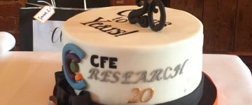 And thank you to Wendy @SkylarkBakery for your fabulous cake to celebrate 20 years of CFE! https://t.co/5A0CCtB90b image